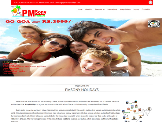 Pmsony Holidays
